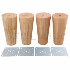4pieces 120x58x38mm Cone Wooden Furniture Legs Feet for Sofa & Tea Table