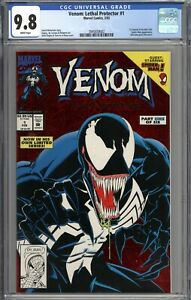 Venom Lethal Protector #1 CGC 9.8 NM/MT 1st Venom in His Own Title WHITE PAGES