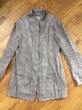 Annette Görtz chaqueta blazer lino lodo layers Olive Avantgarde 38/40