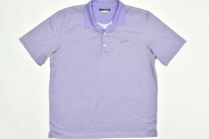 Greg Norman Men's Adult Size 2XL Polo Play Dry Golf Purple