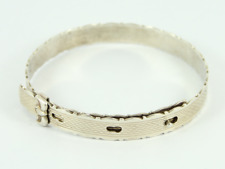 Vintage Adjustable Bangle Sterling Silver Ladies Stunning Bracelet 925 6.4g Gg47