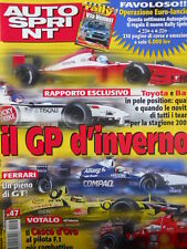 Autosprint n°47 2001 Toyota e Bar in Pole Position per stagione 2002 [P19]