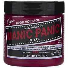 Manic Panic Semi-Permanent Hair Color Cream, Hot Hot Pink 4 oz (Pack of 2)