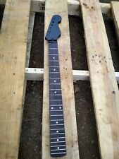 MODERN 22 FRET ROSEWOOD BLACK STRAT NECK REPLACEMENT GUITAR NECK PROJECT.