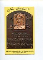 Lou Boudreau Cleveland Indians 1948 WS Champ HOF Signed Autograph Postcard Photo