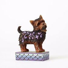 New JIM SHORE Figurine YORKSHIRE TERRIER YORKIE Statue PUPPY DOG Quilt Folk Art