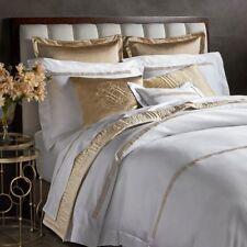 Pratesi Up Down King Duvet Cover 2 Shams White Gold Embroidery New