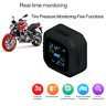 Motorcycle TPMS Wireless Tire Pressure Monitoring System with 2 External Sensors