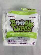 2pk Boogie Wipes Saline Wipes in Unscented Hypoallergenic 45 each 90 Total