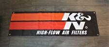 K&N Banner Flag 1.5 x 5 High Flow Air Filters Motor Oil Racing Engine KN Garage