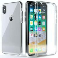 For Apple iPhone XS Max XR Shockproof Clear Back Edge Hard Case Cover Protector