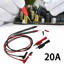 Electronic Digital Multimeter Test Leads Kit W/ Alligator Clip Probe Needle 20A