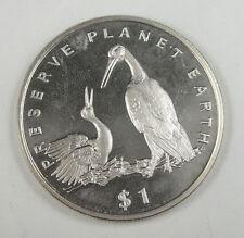 New listing Liberia Commemorative Coin $1 Almost Unc, Preserve Planet Earth, Storks