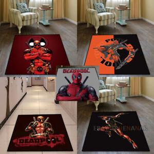Deadpool Carpet Square Floor Mat Home Non-slip Area Chair Rug Multi-function New