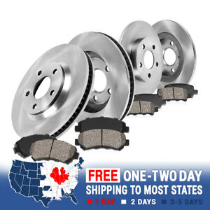 Front+Rear Brake Rotors & Ceramic Pads For 2007 2008 Ford Edge Lincoln MKX 2WD