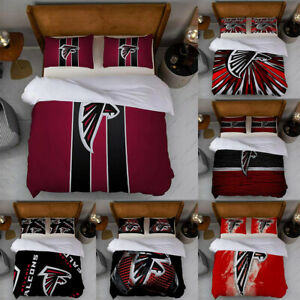3PCS Atlanta Falcons Soft Duvet Cover Pillowcases Comforter Cover Bedding Set US