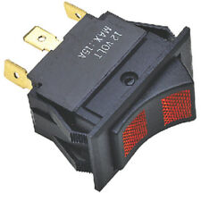 Black Illuminated DPDT 3 Position On / Off / On Rocker Switch for Boats