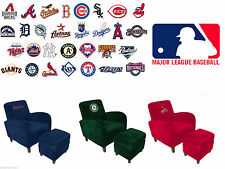 MLB Officially Licensed Den Chair & Ottoman Furniture - Various Team Logos Avail