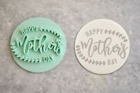 Happy Mother's Day Embosser Stamp Cookie Fondant Flowers