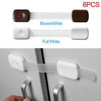 6X Baby Kids Pet Safety Lock Proofing Fridge Toilet Drawer Cabinet Cupboard Door
