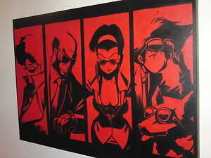 Cowboy Bebop anime oil painting NOT print poster.Hand painted framing available