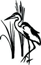 Crane Bird with grass  vinyl wall decal