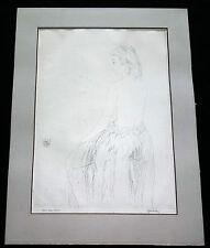 "1930s HAWAII ETCHING PRINT ""GRASS SKIRT, HAWAII"" by JOHN MELVIN KELLY (Daw)"