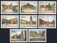 ITALIA 1987/89 TEMATICA Piazze d'Italia cmpl 8 v. **