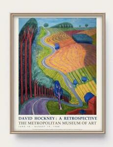 David Hockney Art Poster A4 Framed reprint