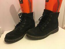 Gamuza Cuero Genuino Tobillo Botas Zapatos Talla 7 para Mujer Damas Negro (jm