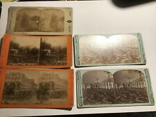 Stereoview Card Lot Saratoga New York (5) Grand Union Hotel/ Park Etc