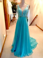 Sherri Hill Gown Prom or Pageant Size 0  Blue Teal Dress