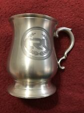 Crown and Rose Small Cast Pewter Tulip-Shaped Mug 8 Oz Tankard  Cup