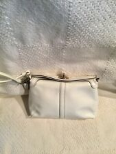 RARE! Coach Turnlock White Patent Leather Wristlet Wallet Clutch Case Purse GUC