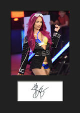 SASHA BANKS #4 (WWE) Signed (Reprint) Photo A5 Mounted Print - FREE DELIVERY