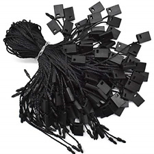 Hang Tag String Black 7 1000pcs Nylon Snap Lock Pin Loop Fastener Hook Ties And