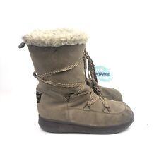 Women's Rocket Dog Snowcrush Fur Lined Mid Boot - Tan/Cream - US8.5/UK6/EU38.5