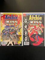 Archie Comics #'s 627 & 628 Archie Meets KISS High Grade Archie Comics Set D10-1