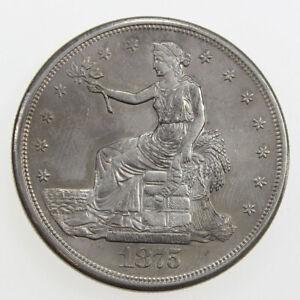 1875-S $1 TRADE SILVER DOLLAR UNC