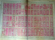 ORIG 1908 UPPER EAST SIDE YORKVILLE MANHATTAN NY 64TH-80TH & 2ND-5TH ATLAS MAP