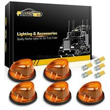 Set5 For 73-87 GMC Cab Marker Light Assembly 1313A Amber Lens+T10 3528 Amber LED