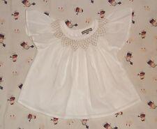 Vêtement bébé fille blouse chemise coton  blanche - Vert Baudet  24 mois