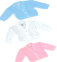 BABY GIRL BOY CARDIGAN JUMPER V NECK BUTTONS LONG SLEEVES KNITTED,0-3,3-6,6-9MTH