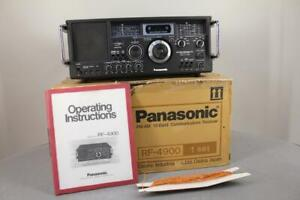 Panasonic RF-4900 Tri-power 10 BAND FM/AM/SW1-8 Shortwave Radio Receiver Nice!