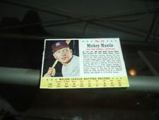 1963 Post Cereal Box Baseball Card #15 Mickey Mantle New York Yankees