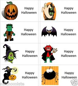 40 x Halloween/ghost/witch labels/stickers/cake/sweets/party/present/gift bags