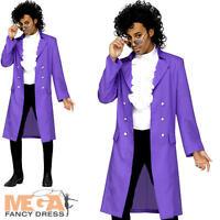 Prince Purple Rain Pop Star Mens Fancy Dress 80s Music Celebrity Adults Costume
