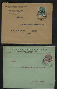 Peru   2   ad    covers to  US         HR0415