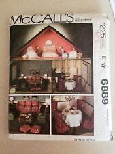 Vintage McCalls 6889 Doll House Furniture Accessories Pattern UNCUT NOS