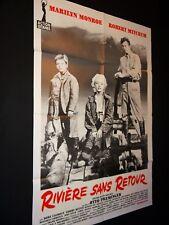 marilyn monroe RIVIERE SANS RETOUR robert mitchum  affiche cinema